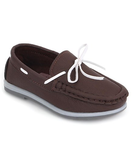 Cute Walk by Babyhug Casual Slip On Loafer Shoes - Brown