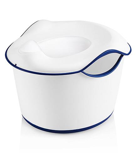 Ubbi 3 in 1 Potty Seat - Off White & Navy Blue