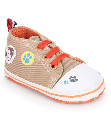 Cute Walk by Babyhug Booties Paw & Doggy Patch - Brown