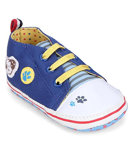 Cute Walk by Babyhug Booties Paw & Doggy Patch - Blue