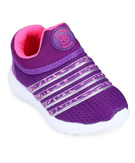 Cute Walk by Babyhug Sports Shoes - Purple