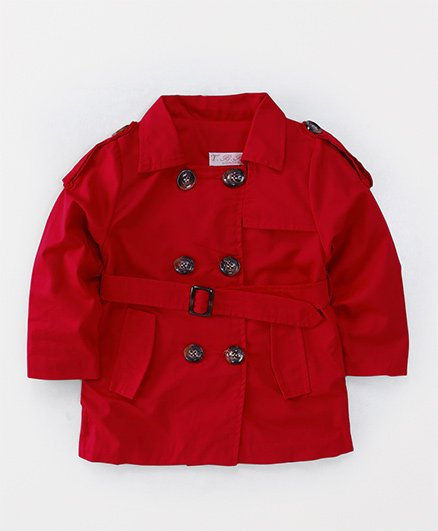 TBB Trendy Full Sleeves Jacket - Red