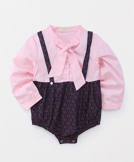 TBB Floral Print Onesie - Pink