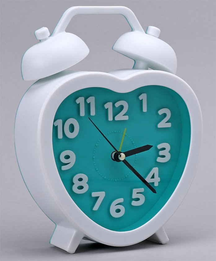 Alarm Clock Heart Shaped - Blue