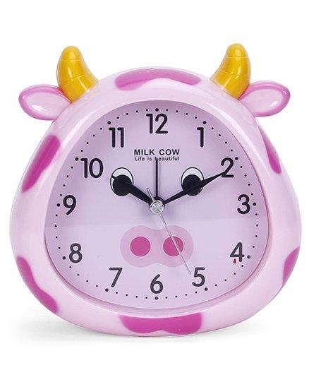 Cow Face Shape Clock - Pink Purple