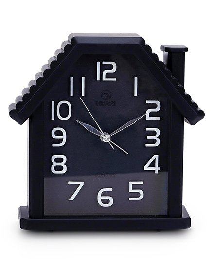 House Shape Alarm Clock - Black