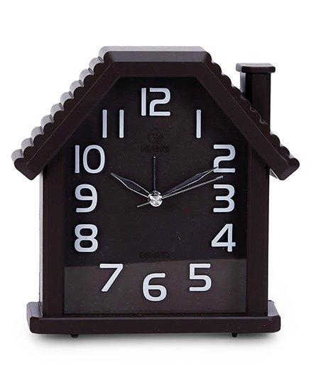 House Shape Alarm Clock - Coffee Brown