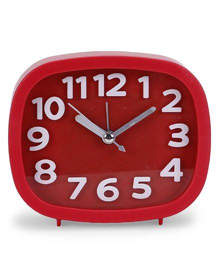 Square Shaped Alarm Clock - Red