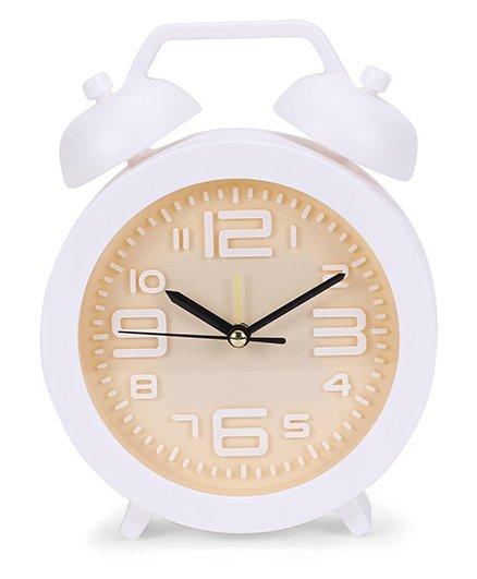 Round Shape Clock - White Peach