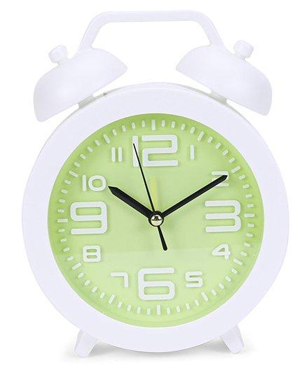 Round Shape Clock - White Green