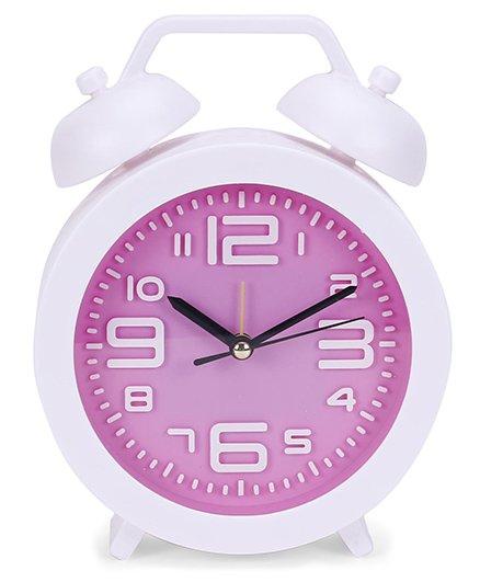 Round Shape Clock - White Purple