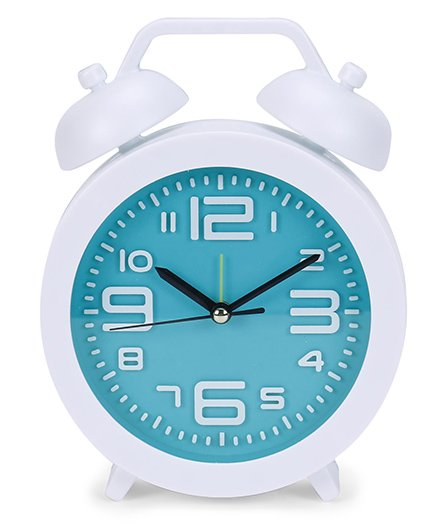 Round Shape Clock - White Blue