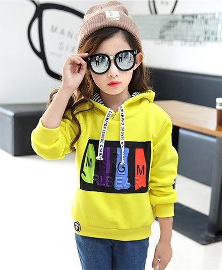 Pre Order - Awabox Printed Hoodie - Yellow