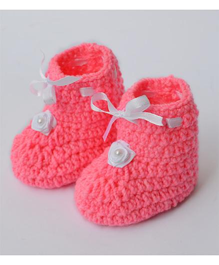Love Crochet Art Smart Booties - Pink