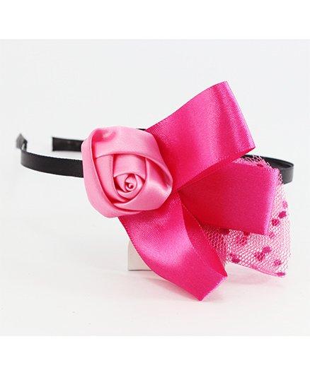 Pihoo Hair Band Rose Applique - Pink