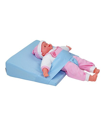 Comfeed Pillows By Nina Baby Reflux Wedge Pillow With Adjustable Safety Belt - Light Blue
