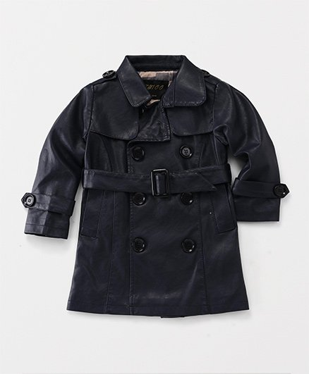 YIYI Garden Leather Collar Jacket - Black