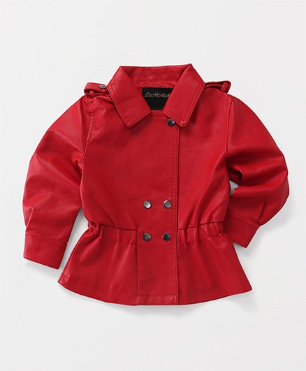 YiYi Garden Collar Jacket - Red
