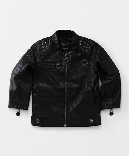 Yiyi Garden Trendy Zippered Jacket - Black
