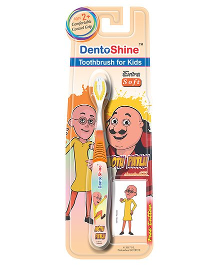 DentoShine Motu Patlu Extra Soft Toothbrush - Orange