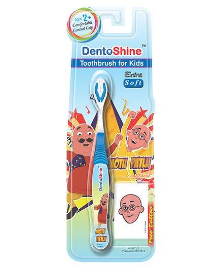 Dentoshine Motu Patlu Extra Soft Toothbrush - Blue