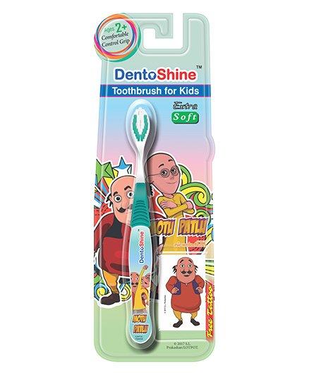 DentoShine Motu Patlu Extra Soft Toothbrush - Green