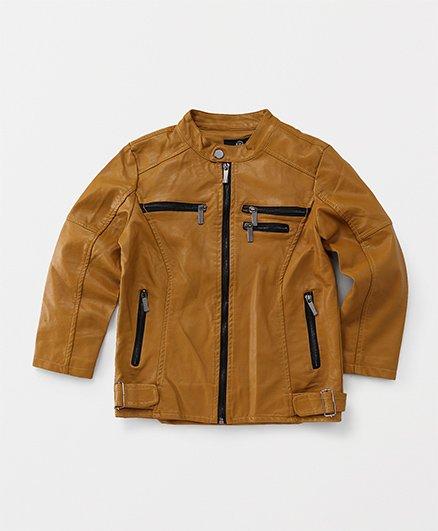 YIYI Garden Leather Jacket - Brown