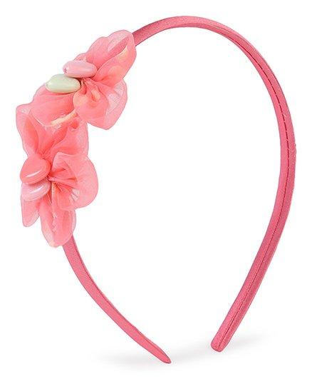 Stol'n Hair Band Floral Design - Pink