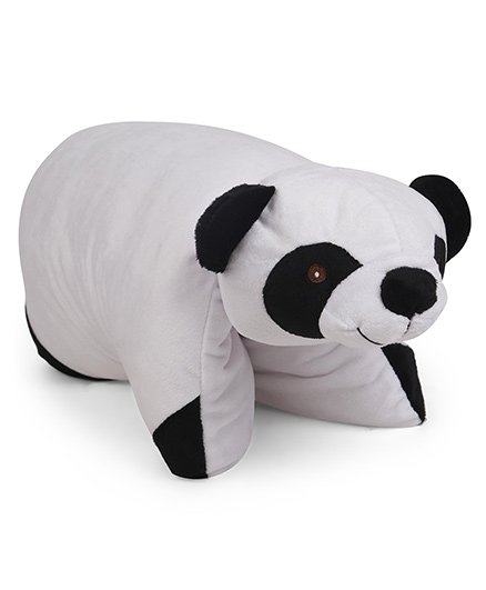 Starwalk Panda Shape Folding Pillow - White Black