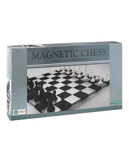 Ekta Magnetic Chess - Black And White