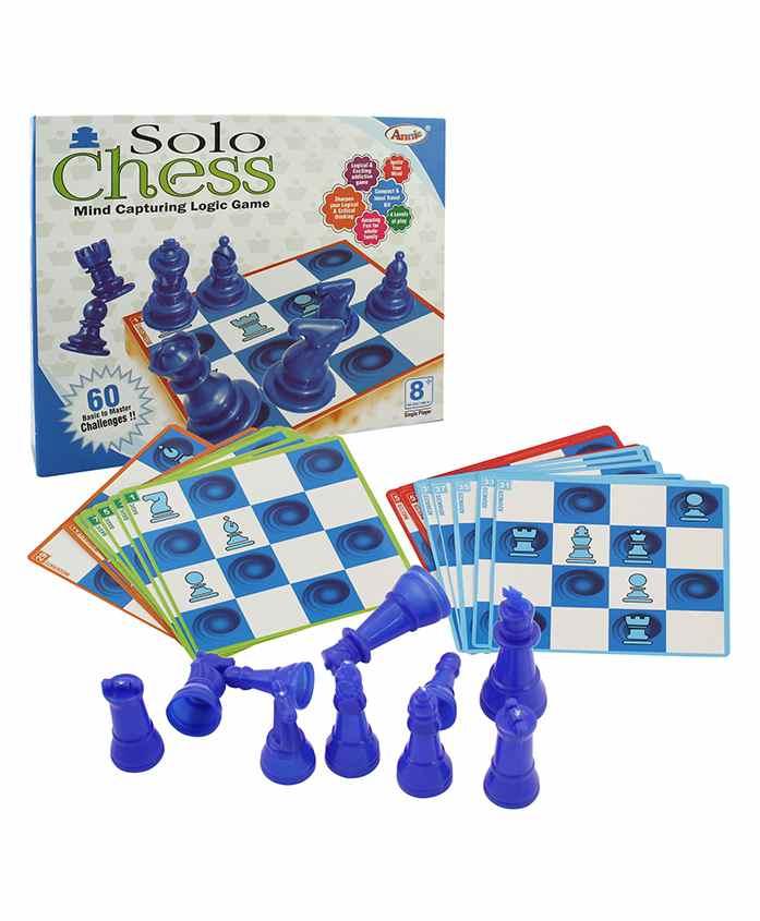 Annie Solo Chess Game - Blue