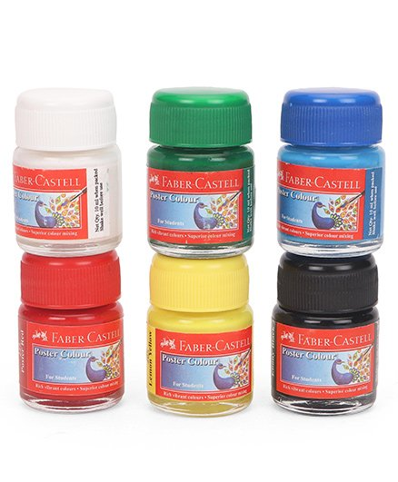 Faber Castell Poster Colors Pack of 6 - 10 (each)