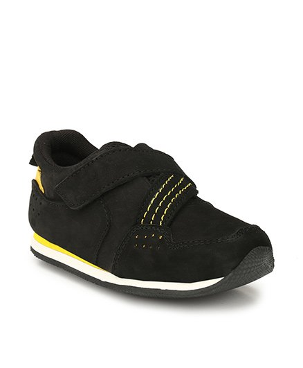 Tuskey Velcro Closure Casual Shoes - Black