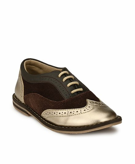 Tuskey Party Wear Shoes - Brown Golden
