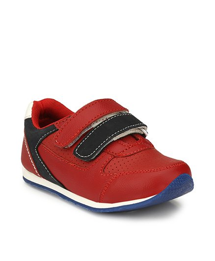 Tuskey Velcro Closure Casual Shoes - Red