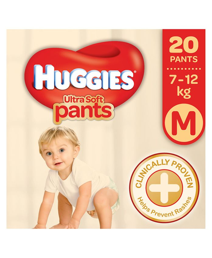 Huggies Ultra Soft Pants Medium Size - 20 Pieces