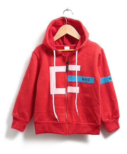 Zonko Style Nyc Zipper Sweatshirt - Red