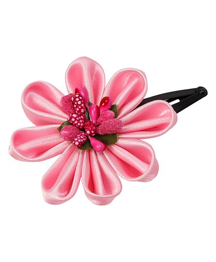 Keira'S Pretties Floral Design Tick Tak Hair Clip - Pink