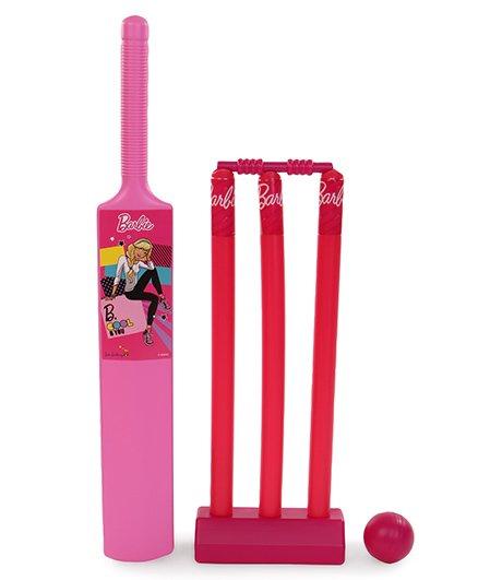 Barbie Be Cool Printed Cricket Set - Pink