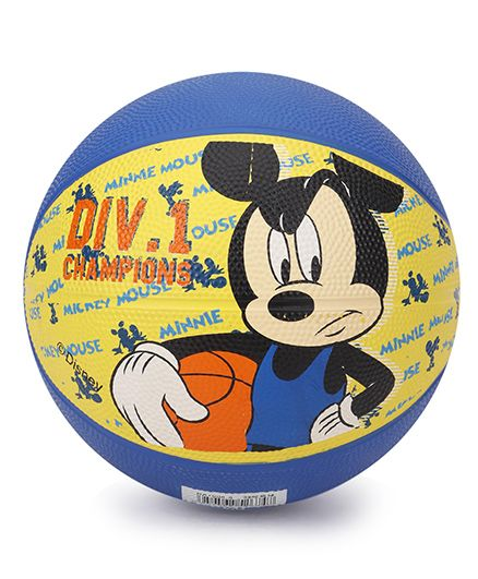 Disney Mickey Mouse Basketball Blue & Yellow - 59 cm