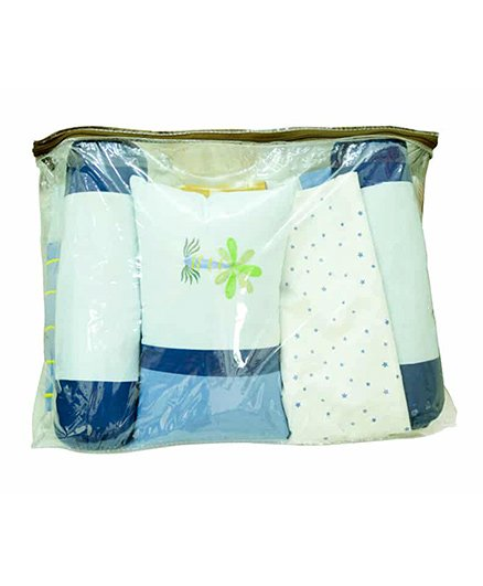 Babies Bloom Crib Bedding Gift Set 4 Pieces - Blue