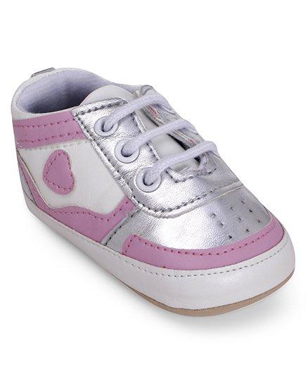 Wonderchild Sporty Look Booties - Silver & Pink