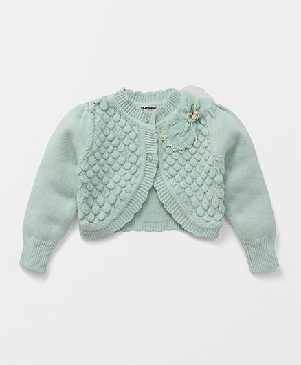 Superfie Fancy Buttoned Jacket - Green