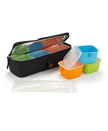 Skip Hop Bento Insulated Clix Meal Time Set Pack of 14 - Multi Colour