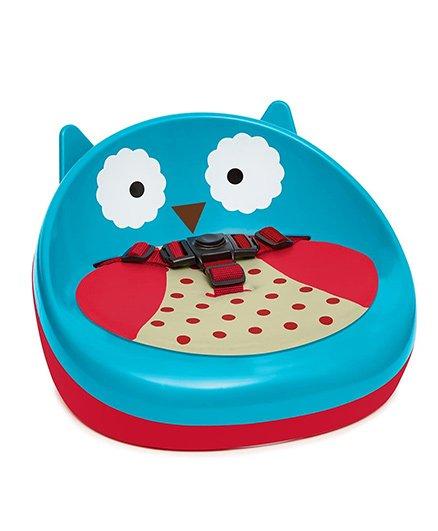 Skip Hop Zoo Booster Seat Owl Print - Blue Pink