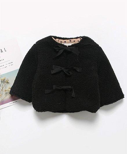 Pre Order - Awabox Tie Up Warm Jacket - Black