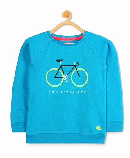 Cherry Crumble California Commuter Sweatshirt - Blue