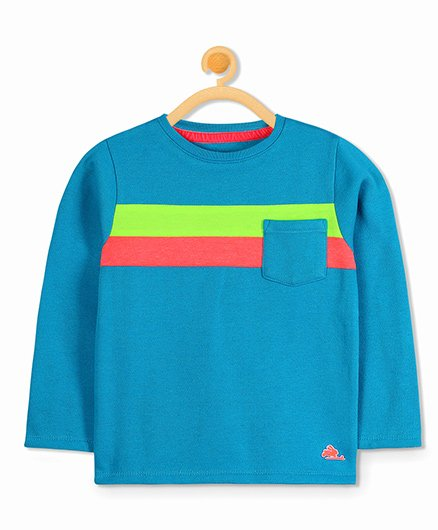 Cherry Crumble California Classic Colorblock Sweatshirt - Blue