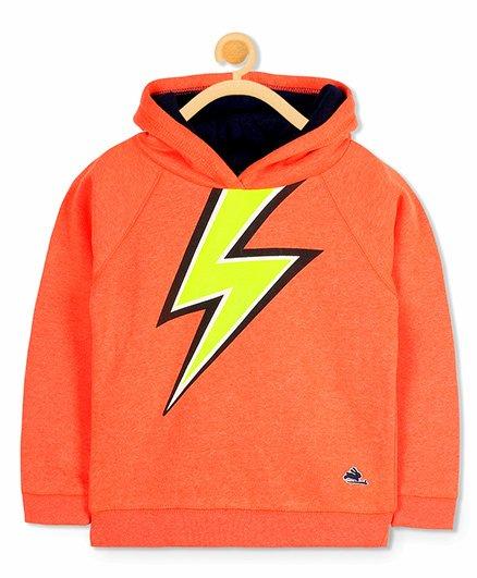 Cherry Crumble California Lightning Hoodie Sweatshirt - Orange