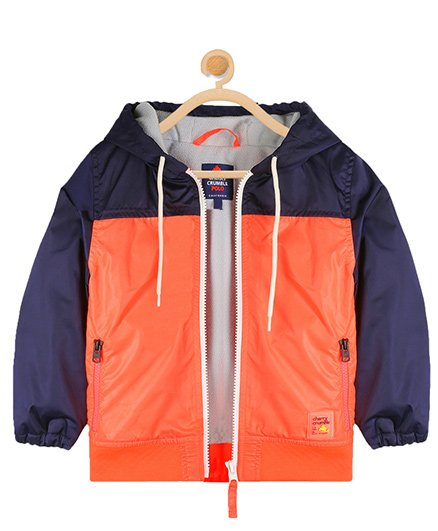 Cherry Crumble California Sporty Vibe Jacket - Orange & Blue